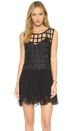 Free People - Sequin Shell Drop Waist Dress