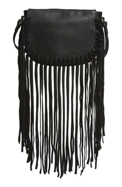 Street Level  - Fringe Faux Leather Crossbody Bag