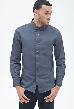 Forever 21 - Classic Fit Pocket Shirt