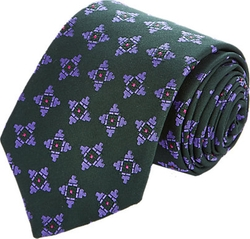Richard James  - Medallion-Pattern Jacquard Necktie