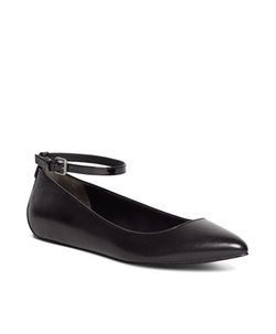 Brooks Brothers - Leather Ankle Strap Ballet Flats