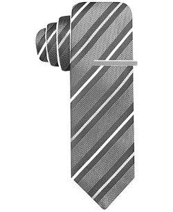 Alfani Red  - Reversible Thin Stripe Skinny Tie