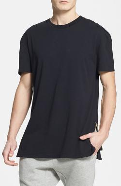 Topman - Zip Detail Crewneck T-Shirt