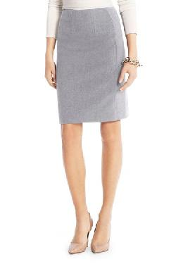 Diane Von Furstenberg - Brook Ceramic Pencil Skirt In Heather Grey