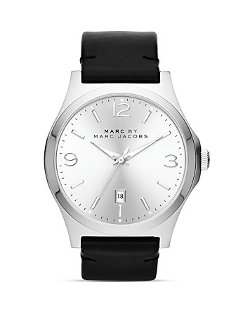 Marc By Marc Jacobs  - Danny Stainless Steel & Black Watch