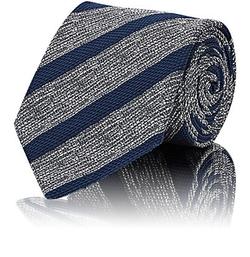 Bigi  - Textured-Stripe Necktie
