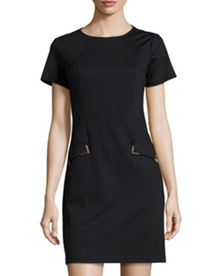Donna Morgan -  Short-Sleeve Shift Dress