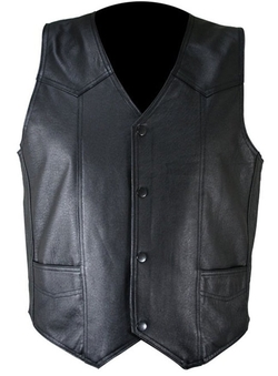 PRLWRS - Slim Fit Casual Leather Vest