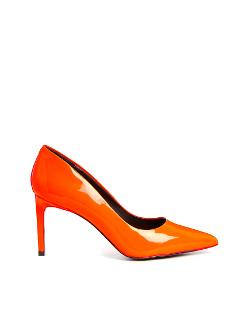 KG by Kurt Geiger  - Bea Patent Orange Heeled Pumps