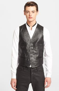The Kooples - Black Leather Vest