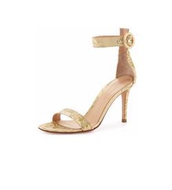Gianvito Rossi - Portofino Lace Ankle-Strap Sandals