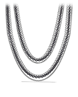 David Yurman - Three-Row Chain Necklace