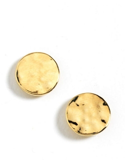 Kenneth Cole New York - Hammered Circle Stud Earrings