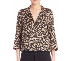 Equipment  - Kate Moss for Equipment Lake Leopard-Print  Top