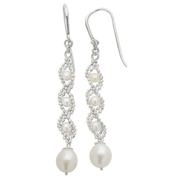 Zales - Pearl Imperial Lace Drop Earrings
