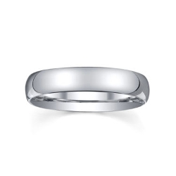 Jc Penney - Silver Domed Wedding Band Ring