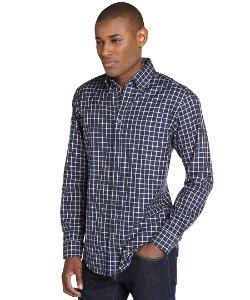 Zegna Sport - Check Cotton Spread Collar Long Sleeve Shirt