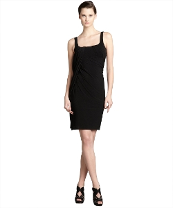 Alexander Wang - Jersey Knit Pleated Draped Sash Tank Dress