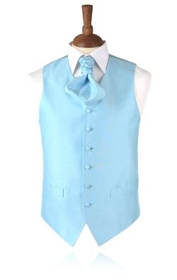 Dobell - Baby Blue Tuxedo Vest