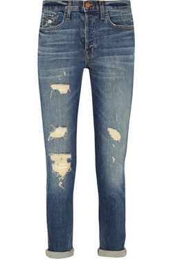 J Brand - Georgia Distressed Boyfriend Jeans