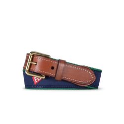 Ralph Lauren - Flag-Print Webbed Cotton Belt