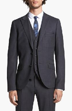 Topman - Skinny Fit Peak Lapel Jacket