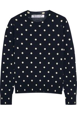 Comme Des Garçons - Polka-Dot Intarsia Wool Sweater
