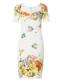 Dolce and Gabbana - Floral-Print Silk Charmeuse Dress