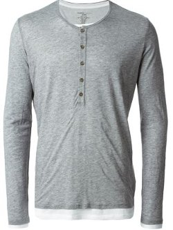 Majestic Filatures - Layered Henley Top