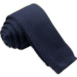 D. Berite - Slim Tie Handmade Knit Necktie