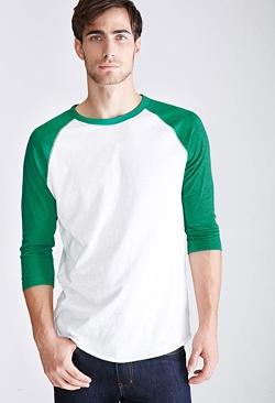 Forever21 - Colorblocked Raglan Baseball T-Shirt