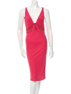 Yigal Azrouël - V-Neck Sleeveless Dress