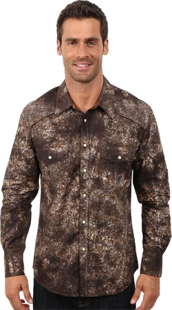 Rock And Roll - Snap Poplin Print Shirt