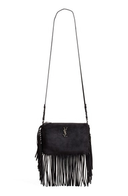 Saint Laurent -  Fringe Suede Crossbody Bag