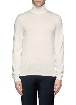 Faconnable   - Cashmere-silk Turtleneck Sweater