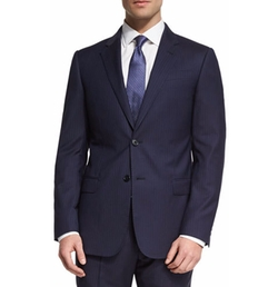 Armani Collezioni - G-Line Striped Two-Piece Wool Suit