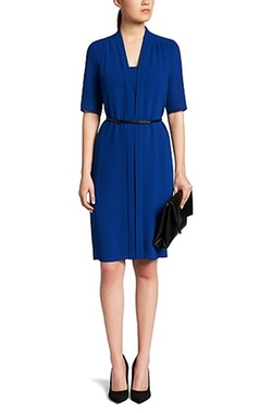 Boss Hugo Boss - Stretch Crepe Belted Shirt Dress