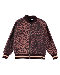 molo - Hally Leopard Rose Bomber Jacket