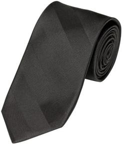 Alara - Narrow Width Tonal Black Stripe Silk Tie
