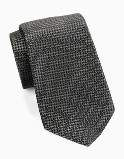 Black Brown 1826 - Textured Silk Tie