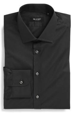 Sand  - Extra Trim Fit Stretch Dress Shirt