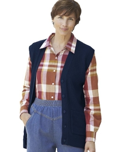 National - Scramble Stitch Sweater Vest