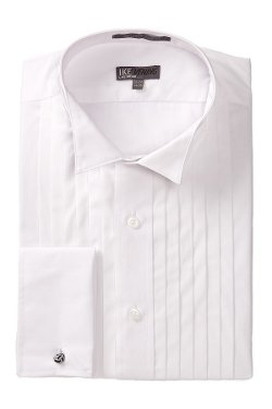 Ike Behar - Pleated Wing Tux Dress Shirt