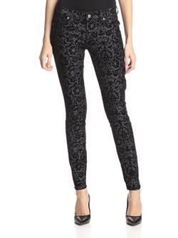 Dakota Collective Denim  - 5-Pocket Velvet Jacquard Skinny Jean