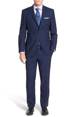 David Donahue  - Classic Fit Stripe Wool Suit