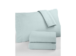 Martha Stewart Collection  - Solid Microfleece Twin Sheet Set