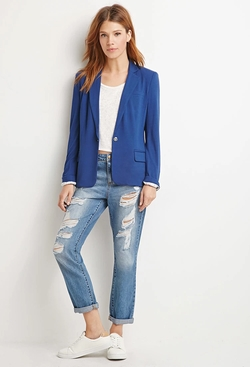 Forever 21 - Contemporary Single-Button Knit Blazer