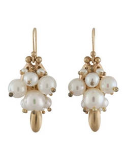 Ted Muehling - White Pearl Bug Earrings