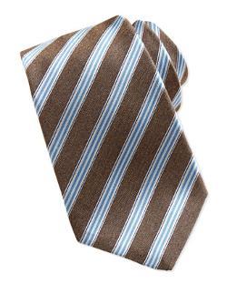 Kiton  - Woven Track-Stripe Tie