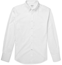 Brunello Cucinelli - Slim-Fit Button-Down Collar Cotton-Twill Shirt